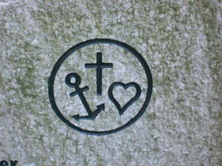 hoop liefde geloof tattoo